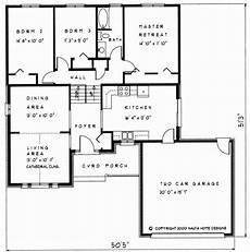 backsplit house plans 3 bedroom backsplit house plan bs101 1345 sq feet