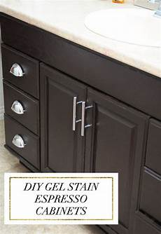 staining oak cabinets an espresso color diy tutorial staining oak cabinets painting oak