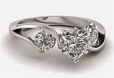 3 stone heart shaped diamond engagement rings sets for women
