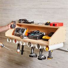 Diy Drill Dock Weekend Projects Garage Tool Storage