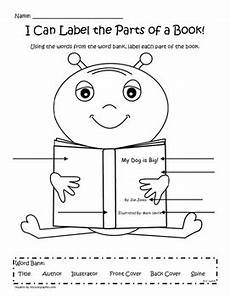 label the parts of a book by kinder critter creations tpt