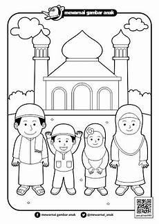Trend Mewarnai Tema Islami Gambar Lucu Paling Baru