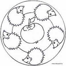 Ausmalbild Igel Apfel Apfeligel Mandala Mandala Herbst Igel Kinder Malerei