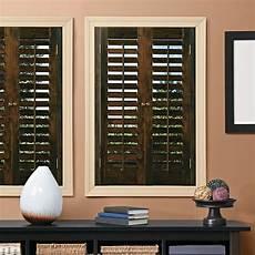 Kitchen Window Shutters Interior Home Basics Plantation Walnut Real Wood Interior Shutters
