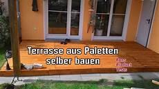 Diy Holz Terrasse Aus Paletten Selber Bauen Schritt F 252 R