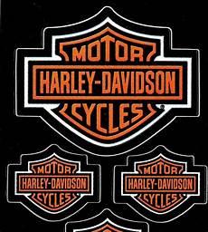 five 5 harley davidson bar shield decals made in usa
