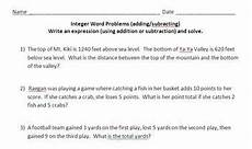 integer word problems adding and subtracting by becker tpt