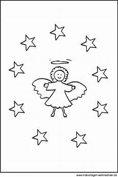 malvorlagen kleine sterne malvorlage engel mit sternen zu weihnachten