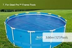 pool 5m durchmesser bestway swimming pool cover 3 5m diameter uv r