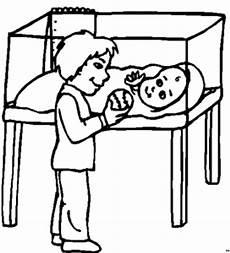 junge mit kleinem baby ausmalbild malvorlage medizin