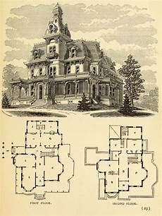 second empire victorian house plans design for a large residence victorian house plans