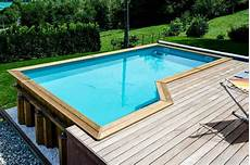 piscine moins de 10m2 piscine hors sol bois urbaine rectangulaire moins de 10m2