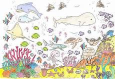 Malvorlagen Unterwasserwelt Berlin Kinderkunst Galerie Ausgemalte Bilder