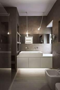 Parkett Und Graue W 228 Nde Im Modernen Badezimmer Wohnung