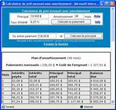Calcul De Pr 234 T Canadien Avec Plan D Amortissement