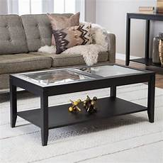 shelby glass top coffee table with quatrefoil underlay coffee tables at hayneedle