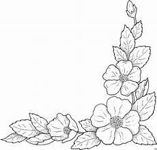 Ausmalbilder Rahmen Blumen Blaetter Unterer Rechter Rand Ausmalbild Malvorlage Blumen