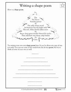 poetry worksheets year 3 25382 i would use this poem sheet during the winter months to show students how to write a shape poem