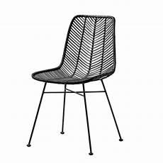 bloomingville chaise lena rotin noir bloomingville
