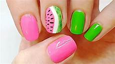 3 step super cute watermelon nails watermelon nail art