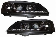 vauxhall opel astra g 98 04 r8 style drl black headlights