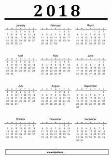 Printable Calendar 2018 A4 2018 Printable Calendars