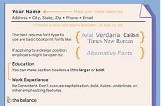 the best font size and type for resumes