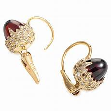 pomellato earrings pomellato chimera 18k gold garnet earrings