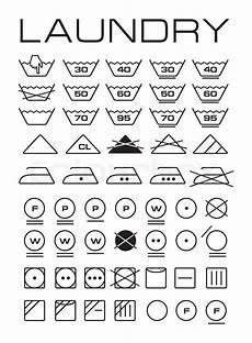 wäschesymbol nicht schleudern set of washing symbols stock photo colourbox