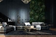 interior design in black beautiful black interior showcased in a historic