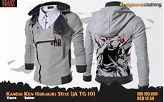 jual jaket tokyo ghoul kaneki ken harakiri style grey sweater hoodie full print animasi di