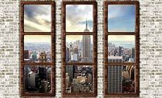 poster mural new york new york city skyline window view wall paper mural buy