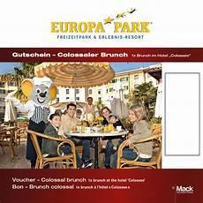 Colossaler Sonntagsbrunch Emotions Karte Europa Park