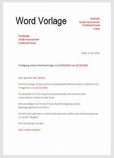 wohnungskündigung per mail k 252 ndigungsschreiben in word vorlage hier downloaden