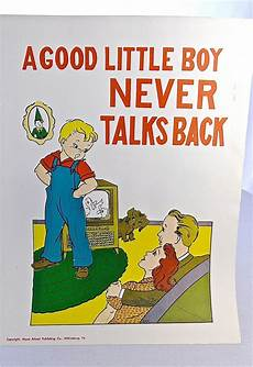 vintage school poster 1957 educational good manners poster a