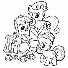 cutie crusaders my pony coloring page