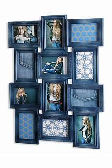 bilderrahmen 68x52x2cm collage blau 12 fotos 10x15 glas