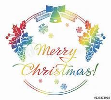 quot winter holiday label with greeting text quot merry christmas quot quot photo libre de droits sur la