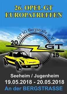 26 Opel Gt Europa Treffen 2018