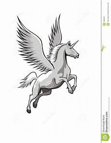 Malvorlagen Xl Wings Eenhoorn Met Vleugels Stock Illustratie Afbeelding