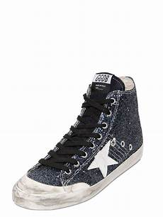 golden goose deluxe brand high tops trainers in blue lyst