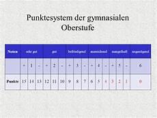punkte oberstufe berechnen oberstufe notendurchschnitt