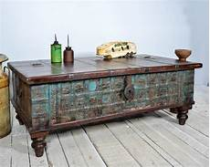 Chest Trunk Coffee Table reclaimed trunk coffee table antique indian blue