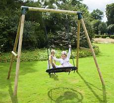 rebo wooden garden swing set childrens swings