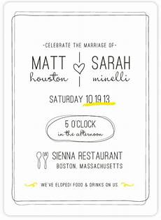 elopement announcement wording private ceremony