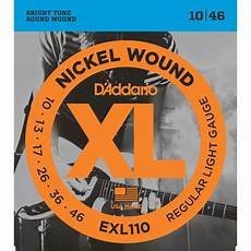 D Addario Exl110 Nickel Electric Guitar Strings 10 46 Regular