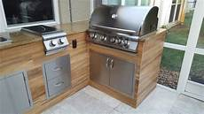 Kitchen Grill Miami by Wood Look Tile Outdoor Bbq Kitchen Modern Patio