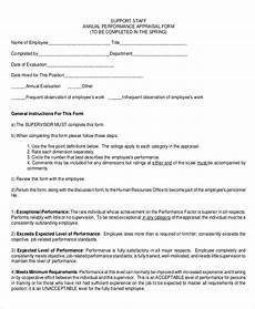 sle performance appraisal form 6 documents in pdf