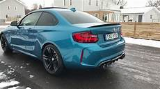 bmw m2 with akrapovic evolution exhaust system youtube