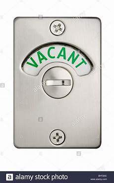 toilettenschild besetzt a toilet door lock showing vacant stock photo 28187948
